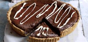 Chokoladetærte med rigtig chokolade